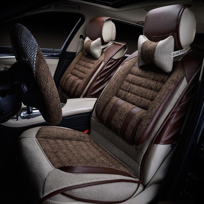 新款夏季亚麻汽车坐垫,简约设计,坐感更加舒适,可以缓解驾驶疲劳