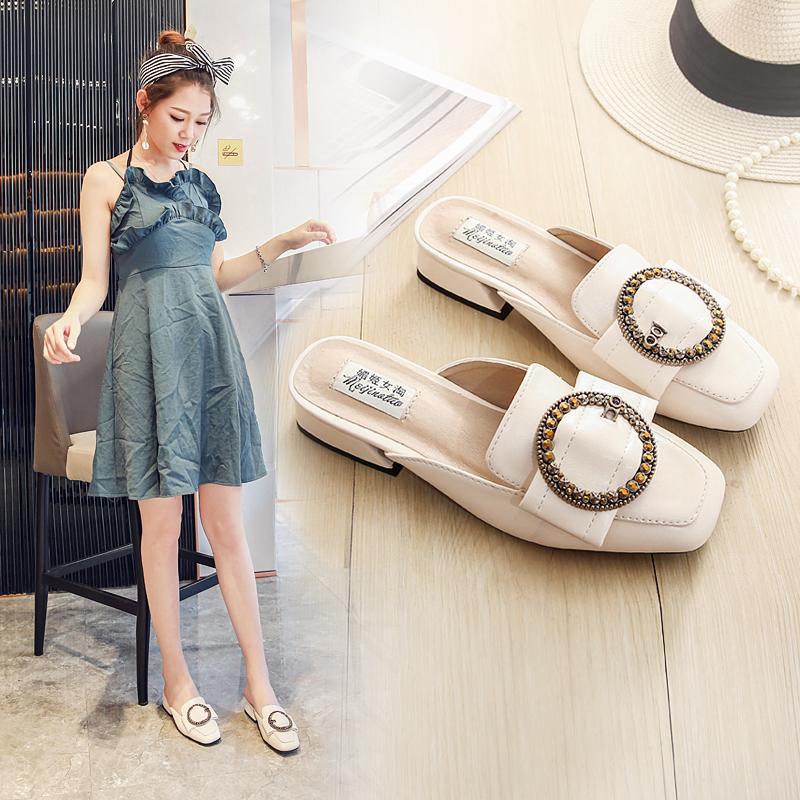 新创一款:包头鞋,适合夏天穿,受到千万女人的适合圆脸女生的刘海图片