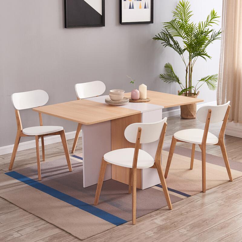 北欧实木折叠餐桌,让餐厅空间变得更宽敞
