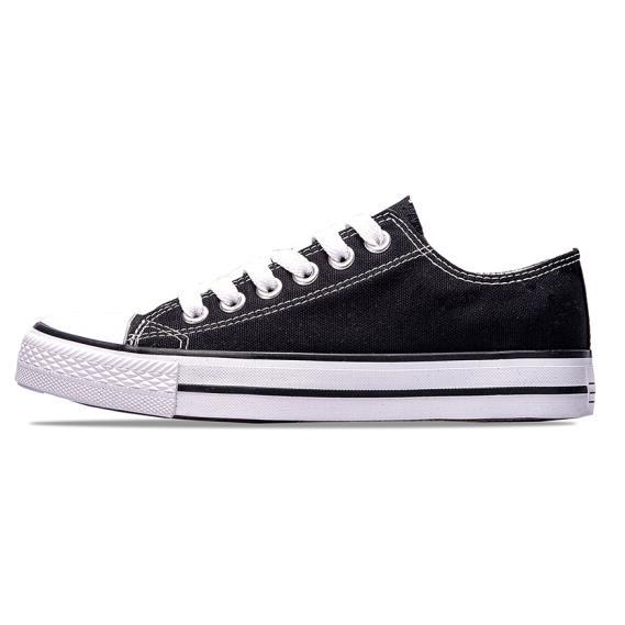 双星帆布鞋男女经典款情侣小白鞋简约时尚休闲鞋透气低帮板鞋 9069 黑色 39优惠券