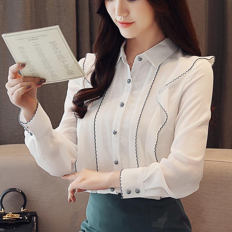 韩范时尚洋气雪纺衬衫优惠券