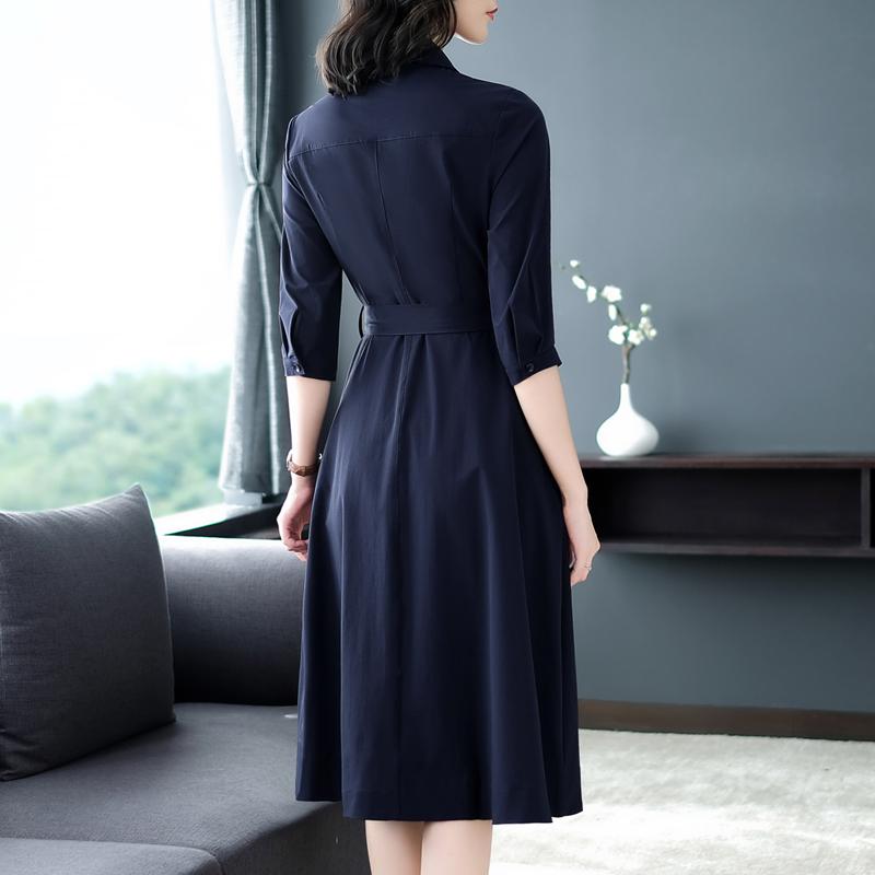 十件开衫,不如这样一件秋装裙!特适合70后穿,背影都美爆了