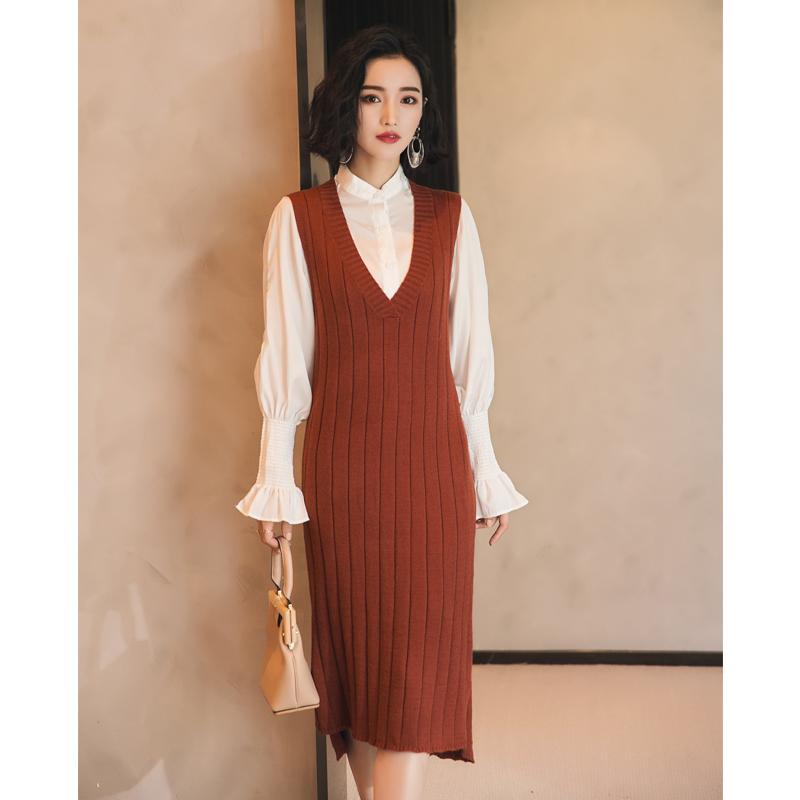 新款针织连衣裙中长款包臀背心裙优惠券