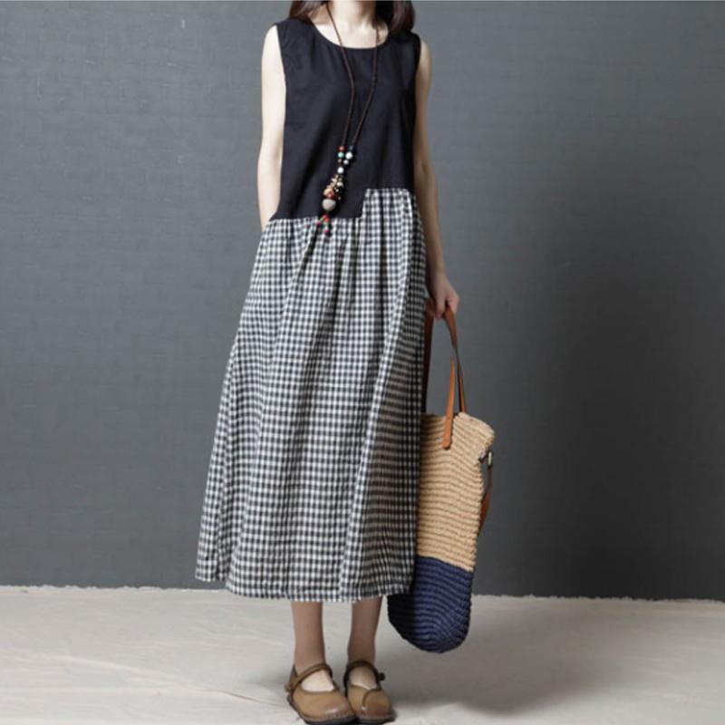 胖姐告诉你,长裙选得对露出大长的腿,长裙穿的对透气舒适没疑问