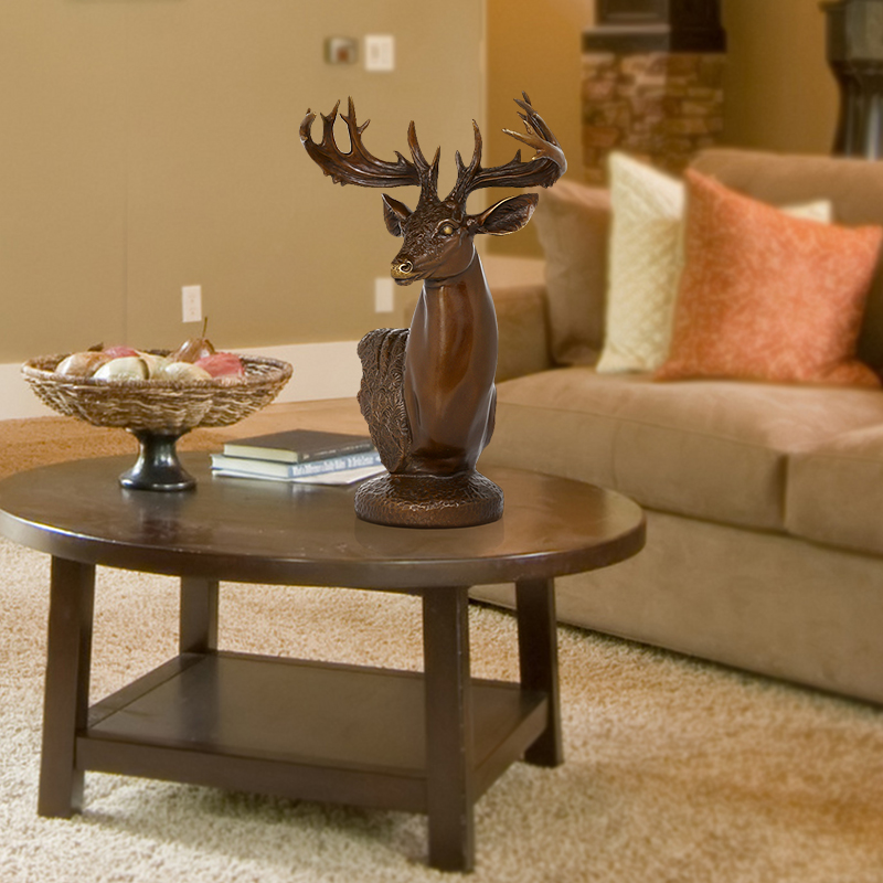 纯铜鹿头铜器摆件客厅优惠券