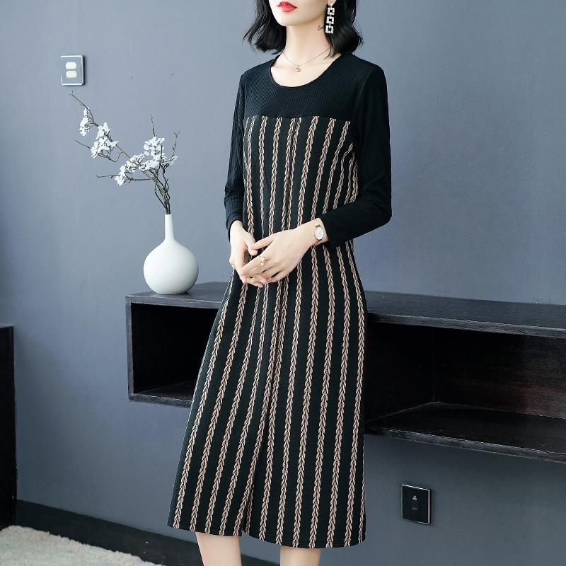 秋冬季新款时尚气质宽松打底针织连衣裙优惠券