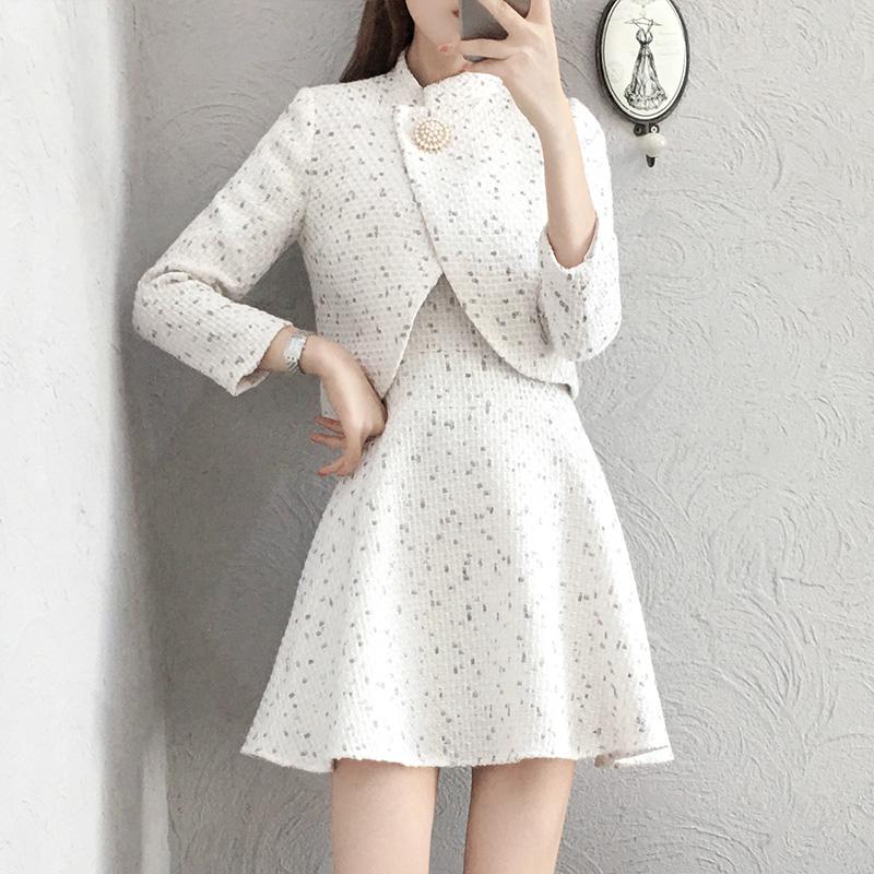 瘦短裙时髦套装短外套6069#优惠券
