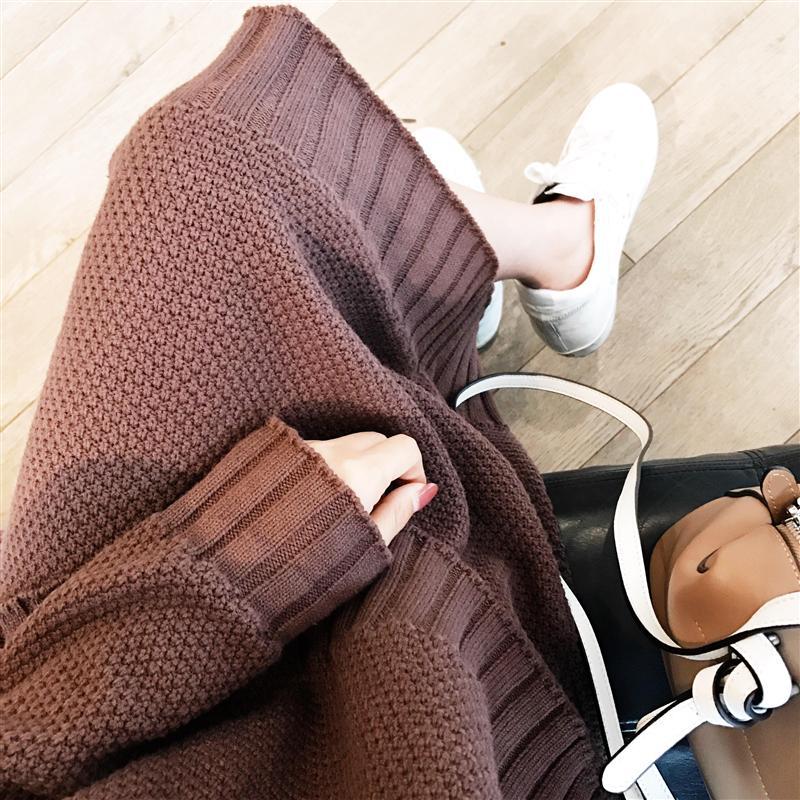 秋冬韩版开叉毛衣+半身裙两件套优惠券