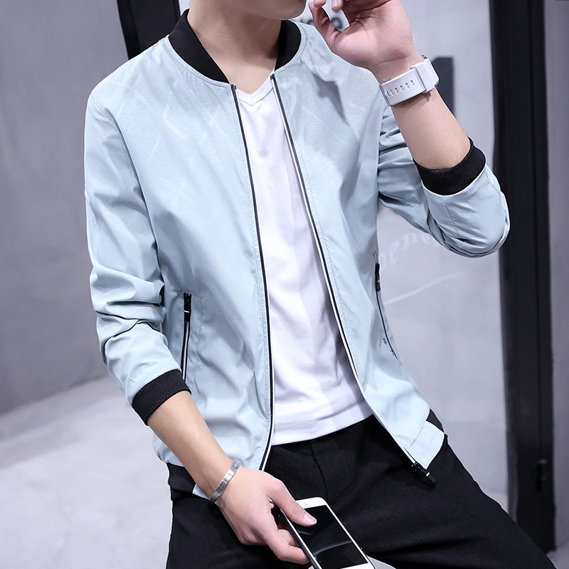 韩版修身休闲时尚男士薄款夹克优惠券