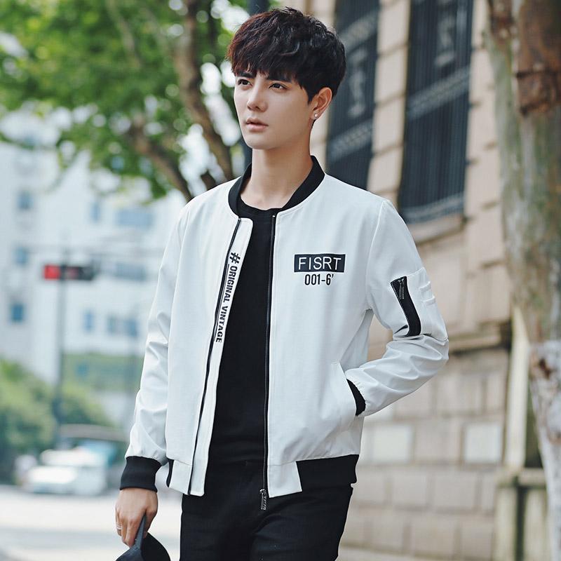 男士韩版夹克薄款棒球衣服修身潮男装潮优惠券