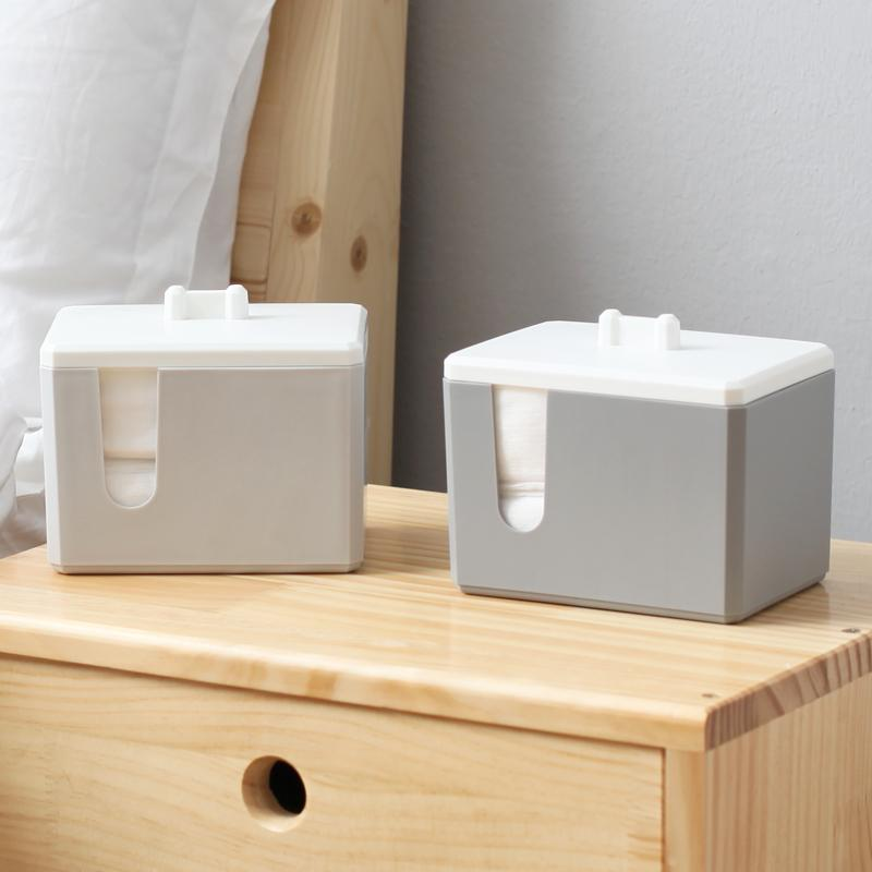 创意家居棉签盒化妆棉盒卸妆化妆品收纳盒优惠券