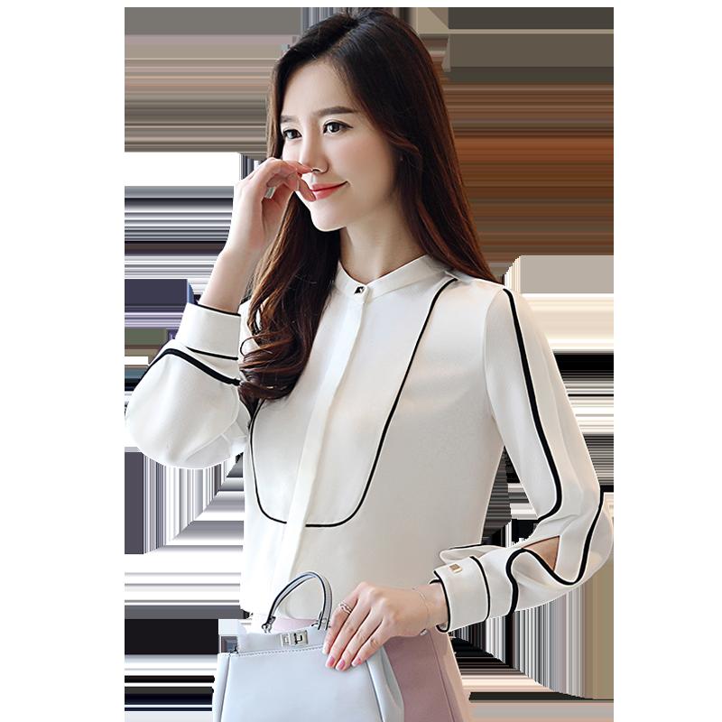 韩版雪纺宽松衬衫女装时装优惠券