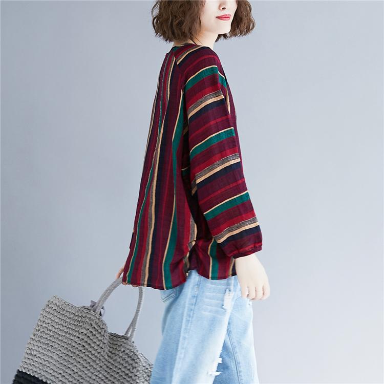 秋季新款棉麻显瘦上衣C549优惠券
