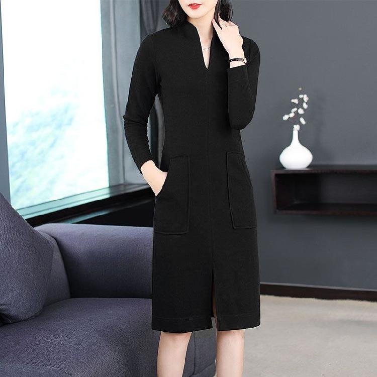新款女时尚中长款连衣裙优惠券