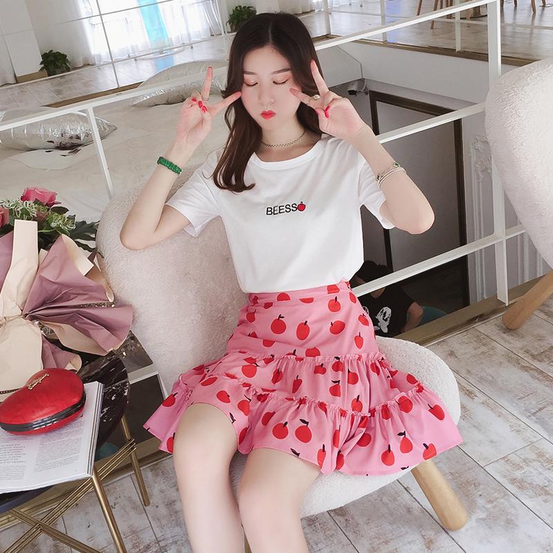 网红短袖T恤半身裙套装优惠券