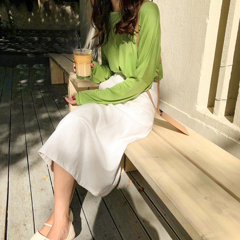 韩版纯色口袋高腰休闲牛仔半身裙优惠券