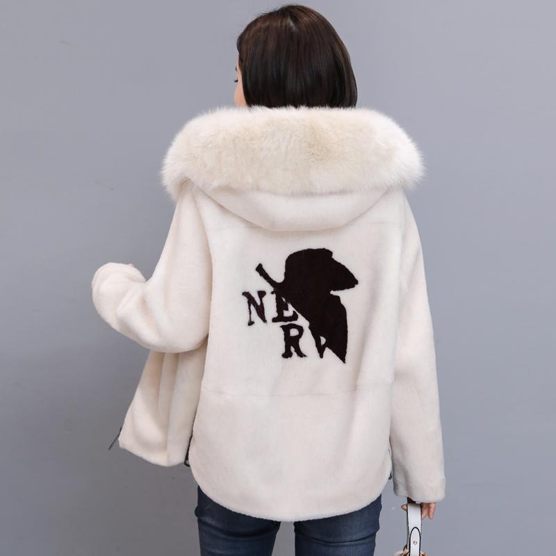 秋冬新款羊剪绒短款狐狸毛领外套优惠券
