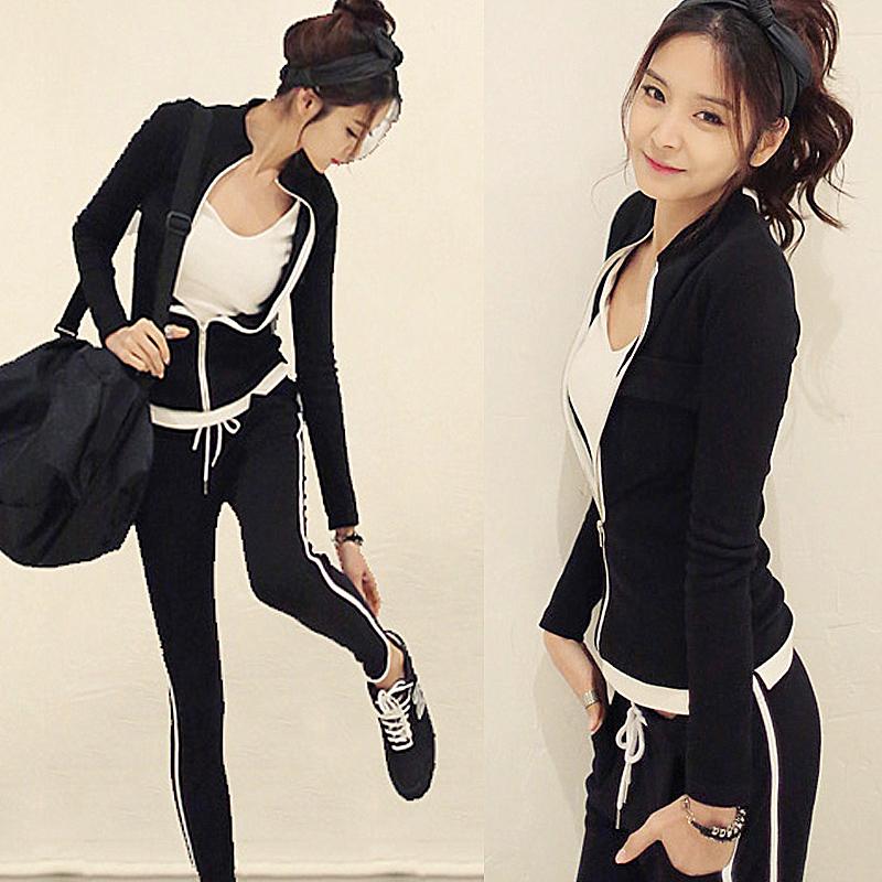 初秋季套装时髦纯棉卫衣休闲显瘦运动服套装优惠券