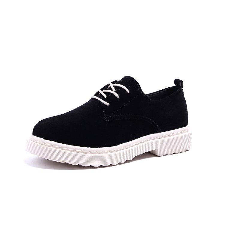 新款磨砂单鞋学生小皮鞋百搭原宿女鞋优惠券