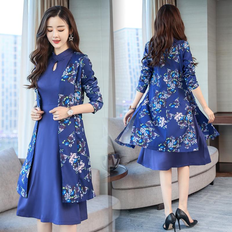 改良旗袍连衣裙韩版中国风两件套A3151优惠券
