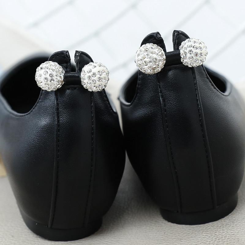 女平底尖头金属球瓢鞋职业低跟鞋潮优惠券