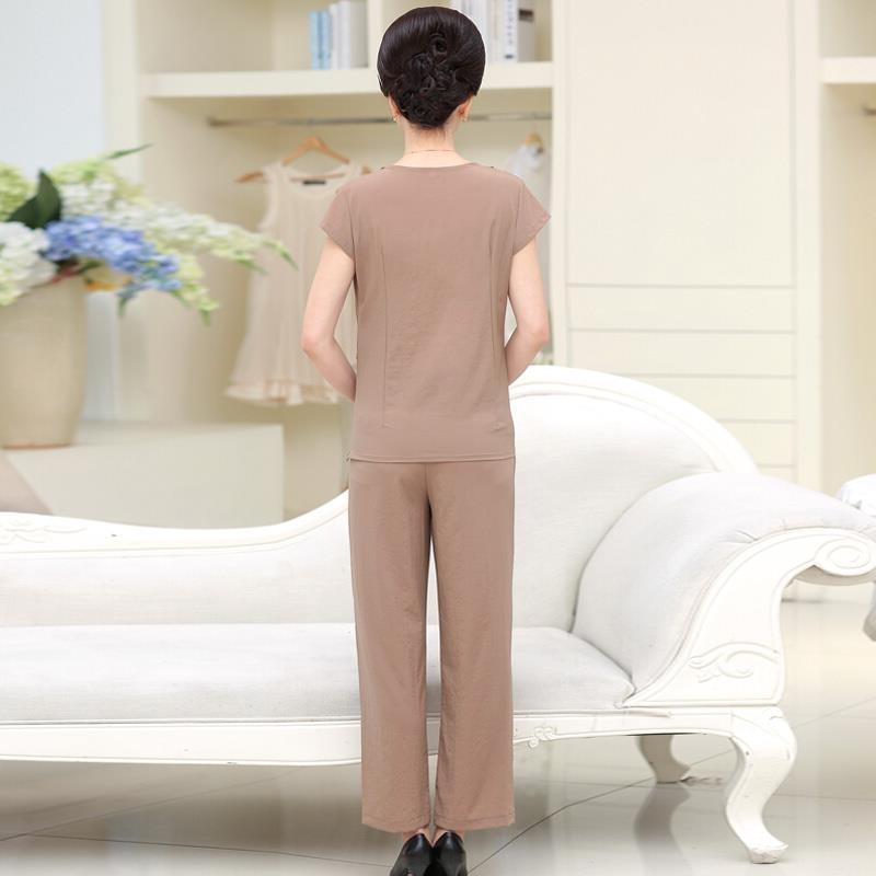 【新款】时尚妈妈装短袖套装优惠券