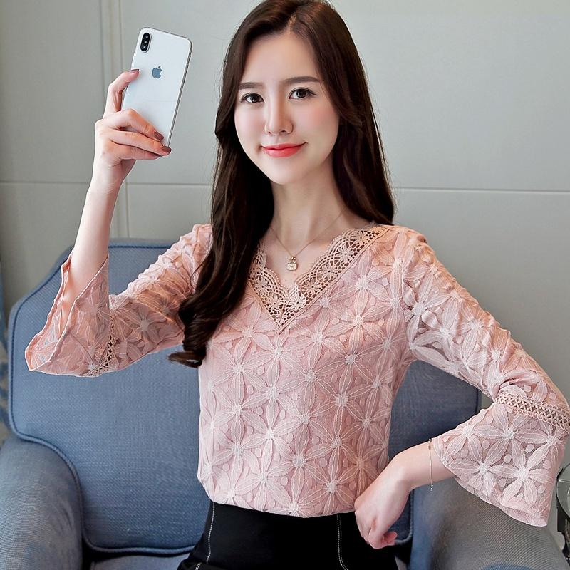 韩版时尚超仙气质淑女甜美长袖洋气小衫优惠券