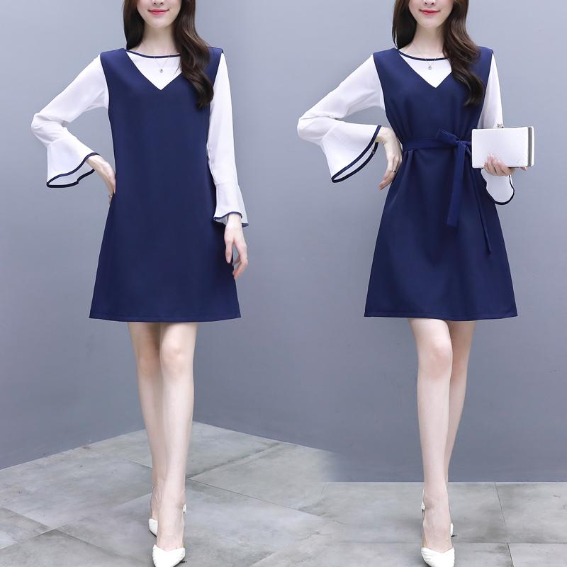 秋季时髦套装雪纺显瘦裙子气质两件套优惠券