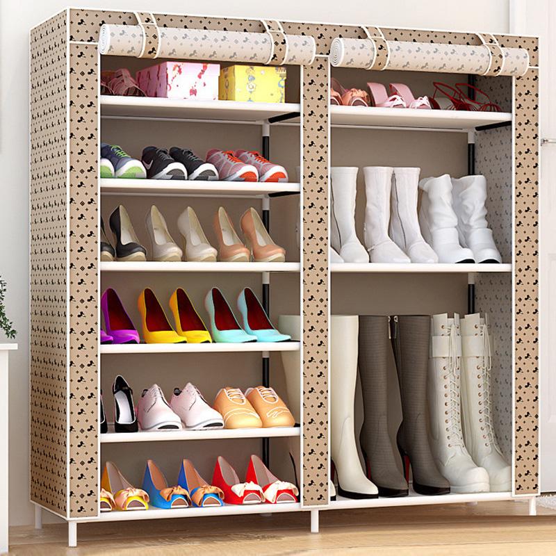 双排简易鞋柜 经济型组装门厅柜 多层鞋柜优惠券