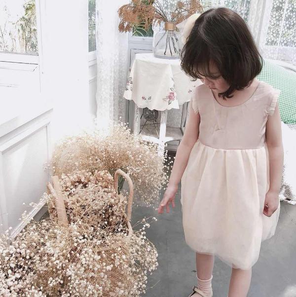 韩国定制童装女童公主裙 可爱蓬蓬纱裙优惠券
