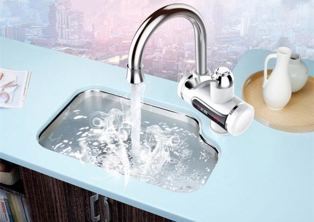 别再傻傻的用凉水洗碗了,只要198加热水龙头带回家,3秒速热