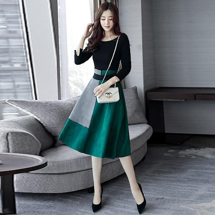 春季新款原版连衣裙女裙长袖两件套优惠券
