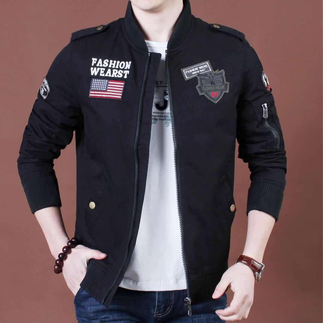 【军旅风】新款优质棉军迷工装飞行员夹克男优惠券
