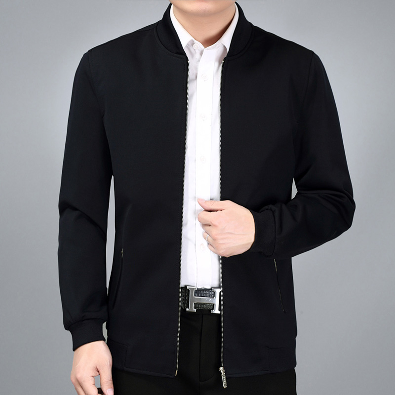 【简约夹克】男装棒球领外套减龄中老年装优惠券