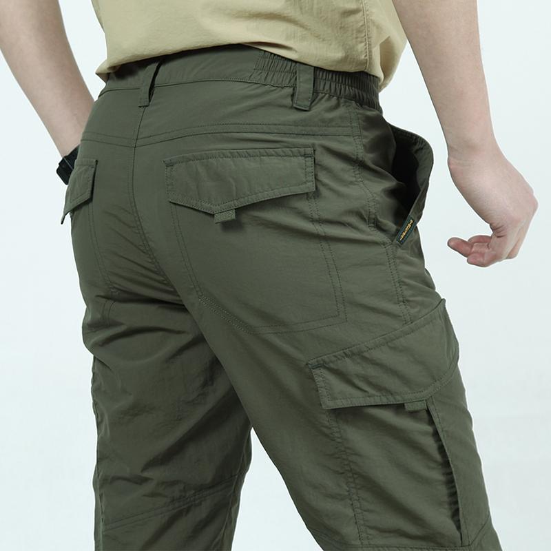 夏季男速干裤多口袋运动户外登山大码长裤子优惠券