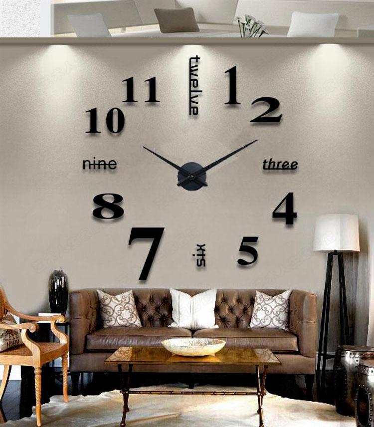 卧室静音墙贴个性简约装饰创意挂壁钟时尚优惠券