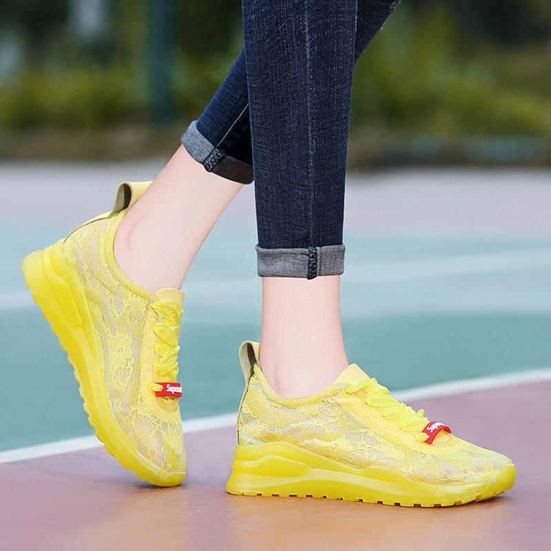 休闲鞋女鞋夏季网面透气运动鞋