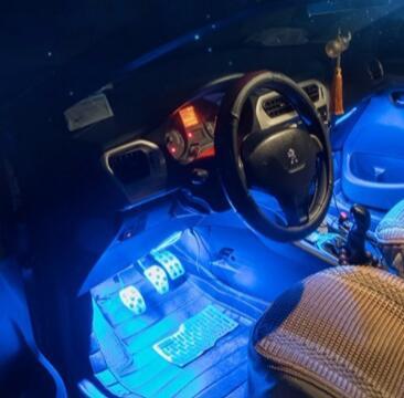 汽车车内氛围灯灯脚底灯七彩声控音乐节奏优惠券