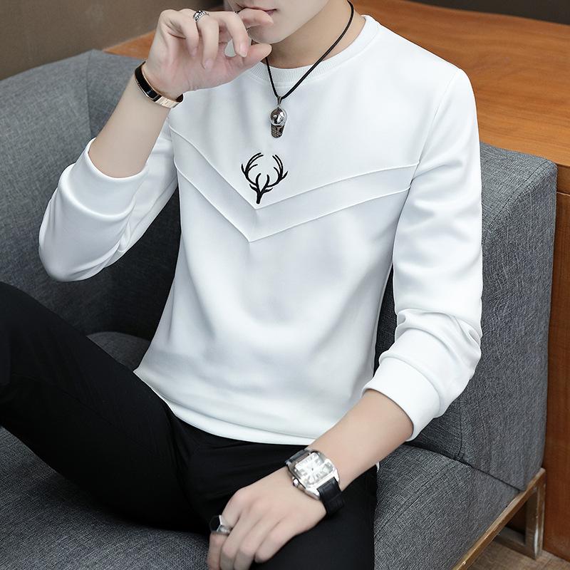 男士长袖卫衣圆领卫衣秋季薄款学生韩版帅气优惠券