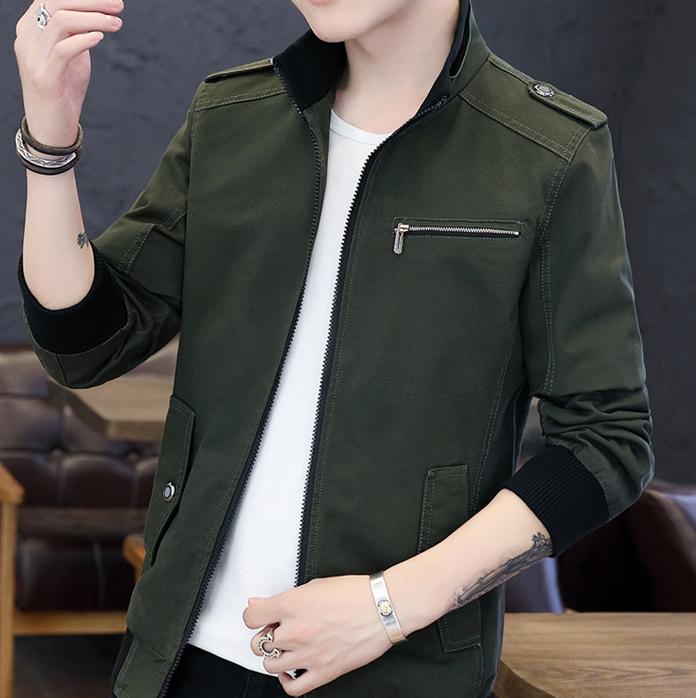 纯棉夹克上衣韩版男装工装外套优惠券