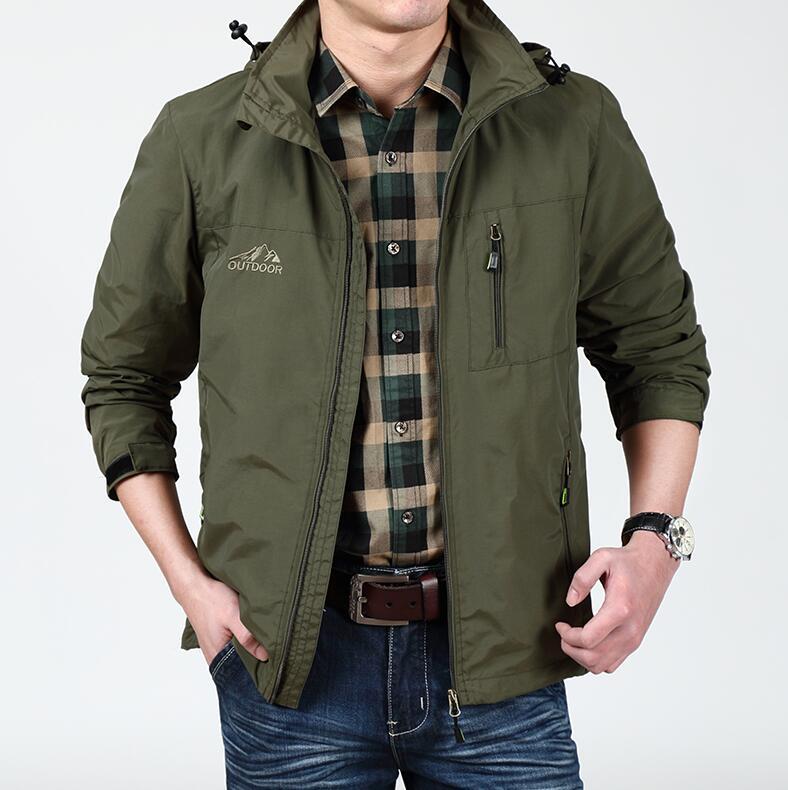 秋季新款男士宽松外套 休闲中年夹克优惠券