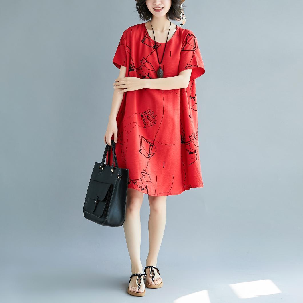 2018夏装韩版大码棉麻连衣裙优惠券