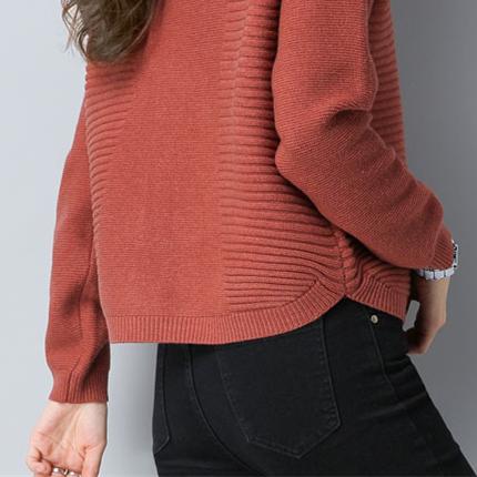 不吹牛!老婆穿这毛衣秋开衫,比穿貂绒大衣还洋气,连背影都美爆