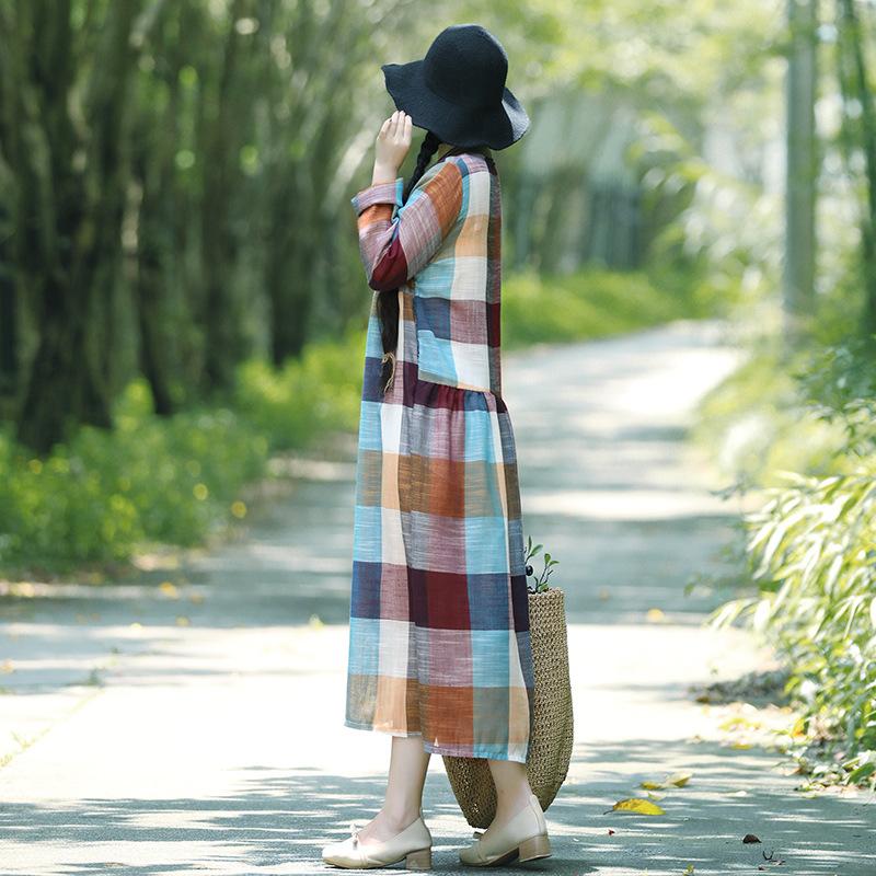 2018新款棉麻复古连衣裙宽松显瘦文艺优惠券