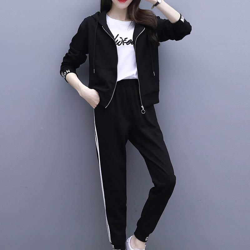 运动套装女新款时尚女装韩版显瘦长袖卫衣优惠券