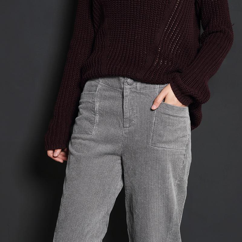 条绒休闲裤女烟管裤秋冬季灯芯绒哈伦裤优惠券