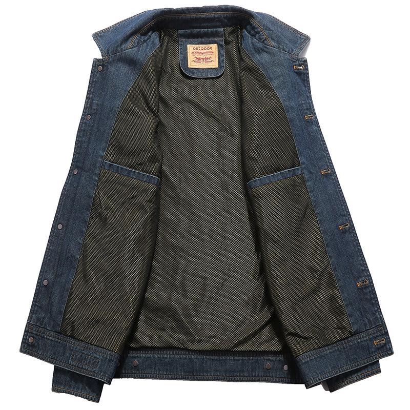 牛仔夹克男外套秋季新款男装中青年夹克优惠券
