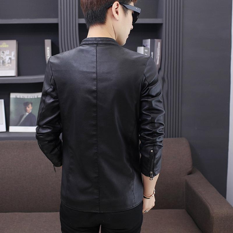 男式休闲PU皮衣时尚韩版立领青少年皮夹克优惠券