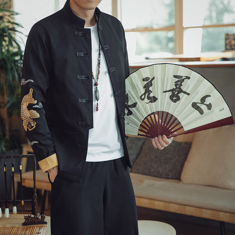中国风秋季夹克外套大气男装优惠券