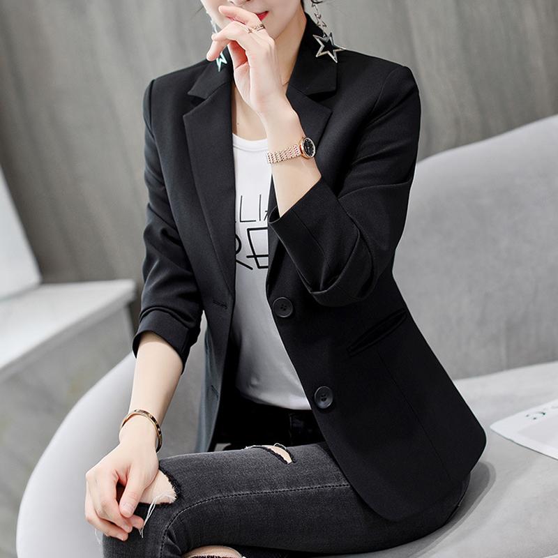 春秋装新款韩版修身大码长袖小西装外套休闲西服女 漫8638优惠券